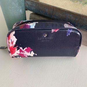 Kate Spade Navy Blue Floral Cosmetic Bag